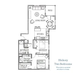HICKORY - TWO BEDROOMS