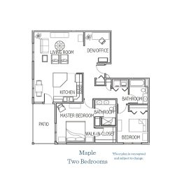 MAPLE - TWO BEDROOMS